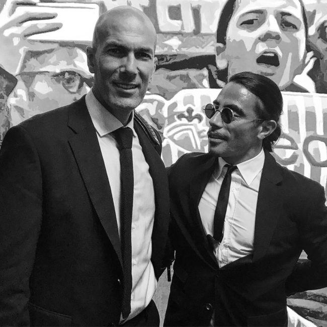 Zinedine Zidane Salt Bae